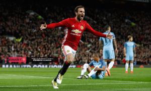 Juan Mata Memberikan Yang Terbaik Kepada Manchester United Saat Berhadapan Dengan Manchester City Pertandingan Derby Liga Inggris