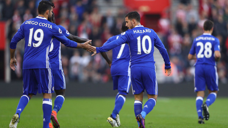 Eden Hazard dan Diego Costa api untuk kemenangan The Blues