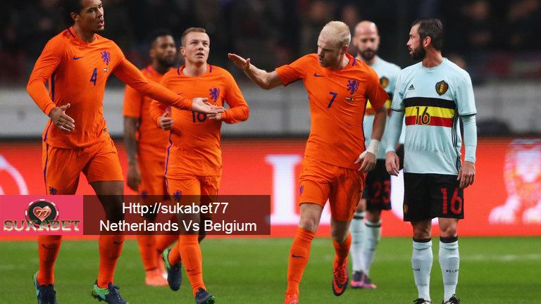 Belanda dan Belgia Bermain imbang 1-1 di Amsterdam, Rabu malam.
