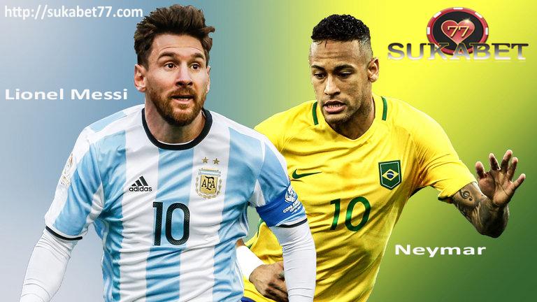 Lionel Messi di bawah tekanan untuk memberikan Argentina melawan Neymar Brasil