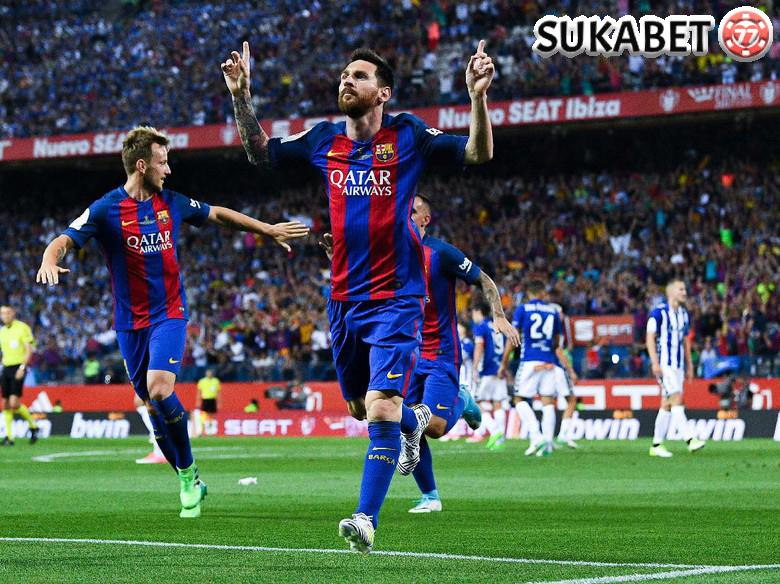 Messi Si Spesialis Gol di Ajang Final Piala Raja