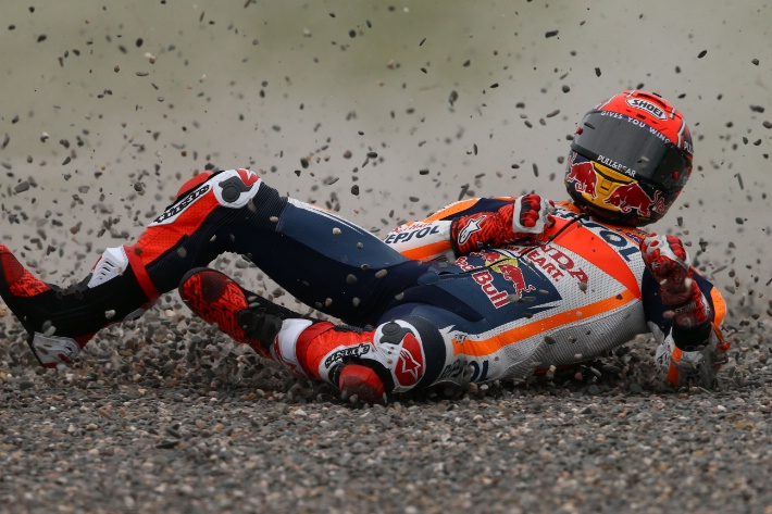 Marquez Terjatuh, Dovizionso Jadi Yang Tercepat Dalam Latihan Bebas