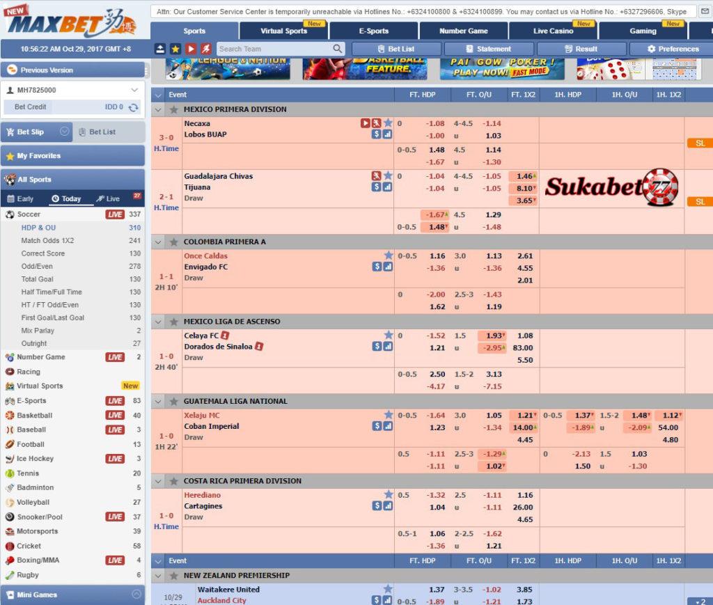 Cara Bermain Taruhan Bola Dan Casino Pada Situs Maxbet Atau IBCBET