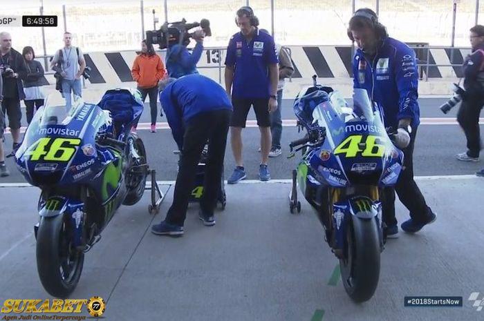 Rossi Semakin Kencang Dengan Sasis Baru Yamaha