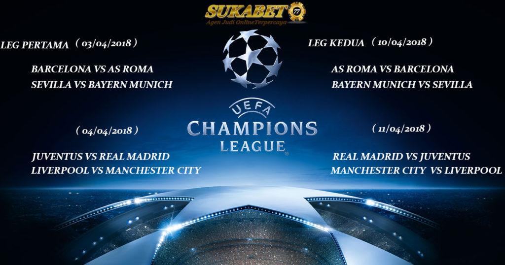 Hasil Drawing Liga Champions Perempatfinal 2017/2018