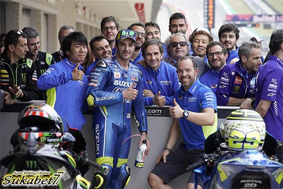 Podium Pertama Iannone Bersama Suzuki Di GP Austin Musim Ini