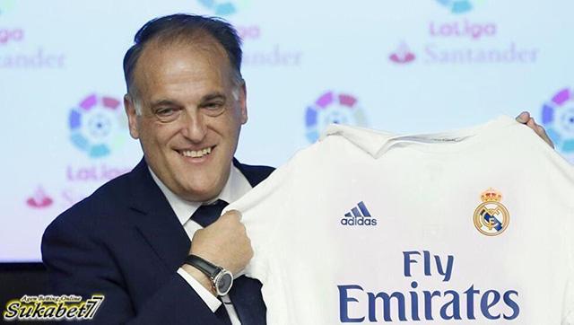 Dukungan Presiden La Liga Kepada Real Madrid Mengenai Barcelona