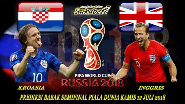 Prediksi Semifinal Piala Dunia 2018 : Inggris VS Kroasia