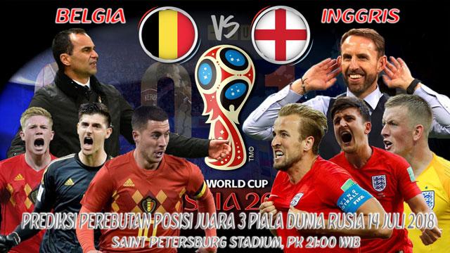 Prediksi Pertandingan Belgia VS Inggris Untuk Perebutan Juara Tiga